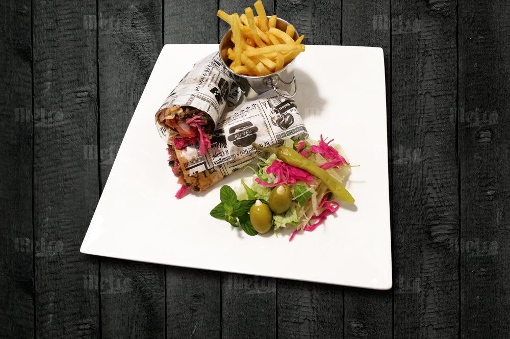 Metrofood rulla naudan shawarma